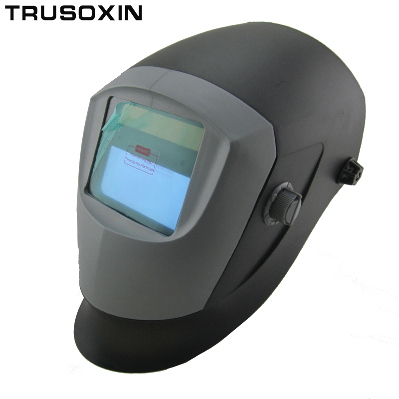 New Li Battery+Solar Auto darkening welding helmet/face mask/Electric welder mask/cap for the welding machine din7 din12 shading area solar auto darkening welding helmet protection face mask welder cap for zx7 tig mig welding machine
