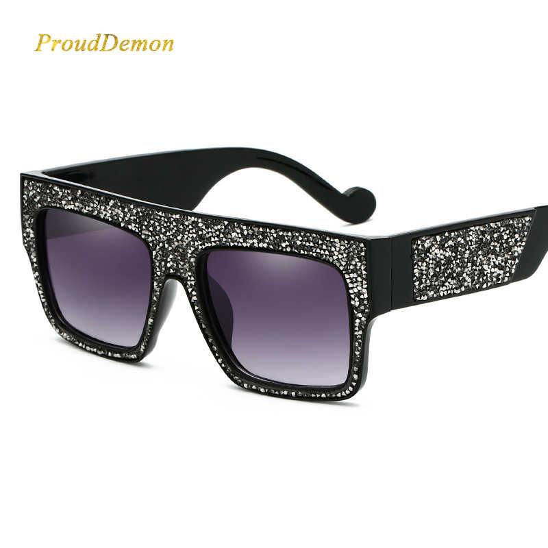454366d865 2019 Luxury Diamond Women Sunglasses Brand Designer Oversized Stars Sun  glasses Unisex Gradient oculos de sol