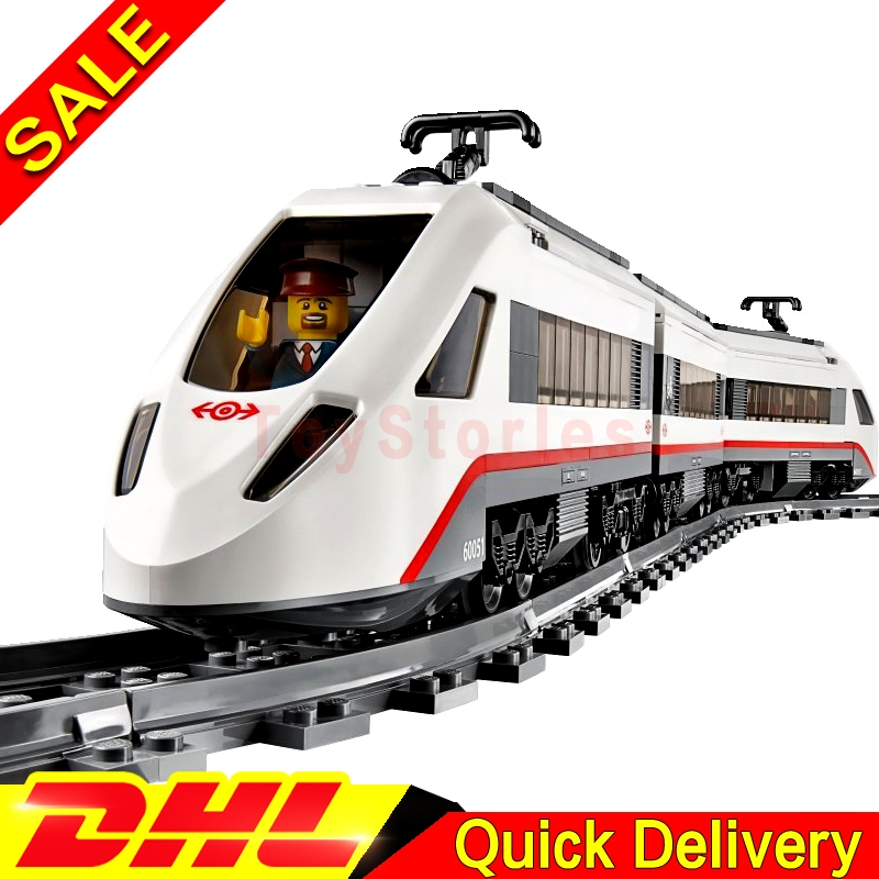 Lepin 02010 Creator Kits The High-speed Passenger Train Remote-control Trucks Building Blocks Bricks legoings Toys Clone 60051 lepin 02010 610pcs city series building blocks rc high speed passenger train education bricks toys for children christmas gifts
