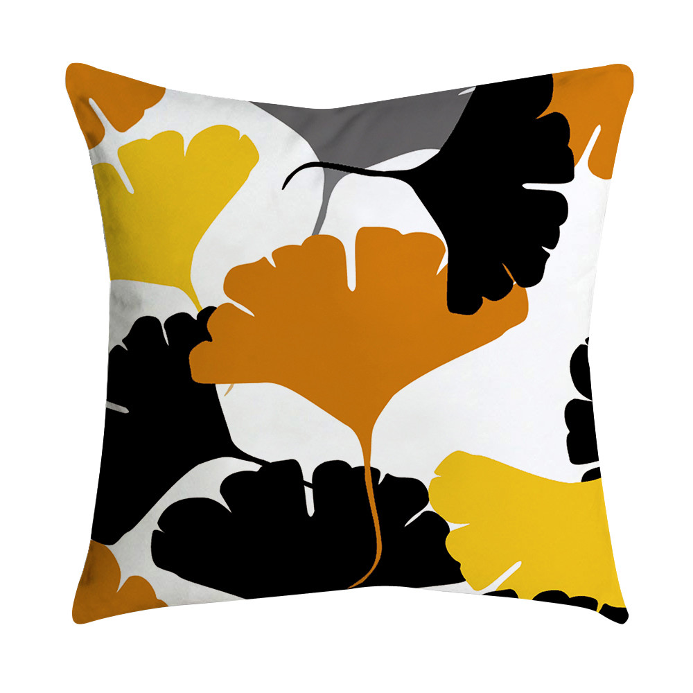 Quistal Mustard Throw Pillow Case