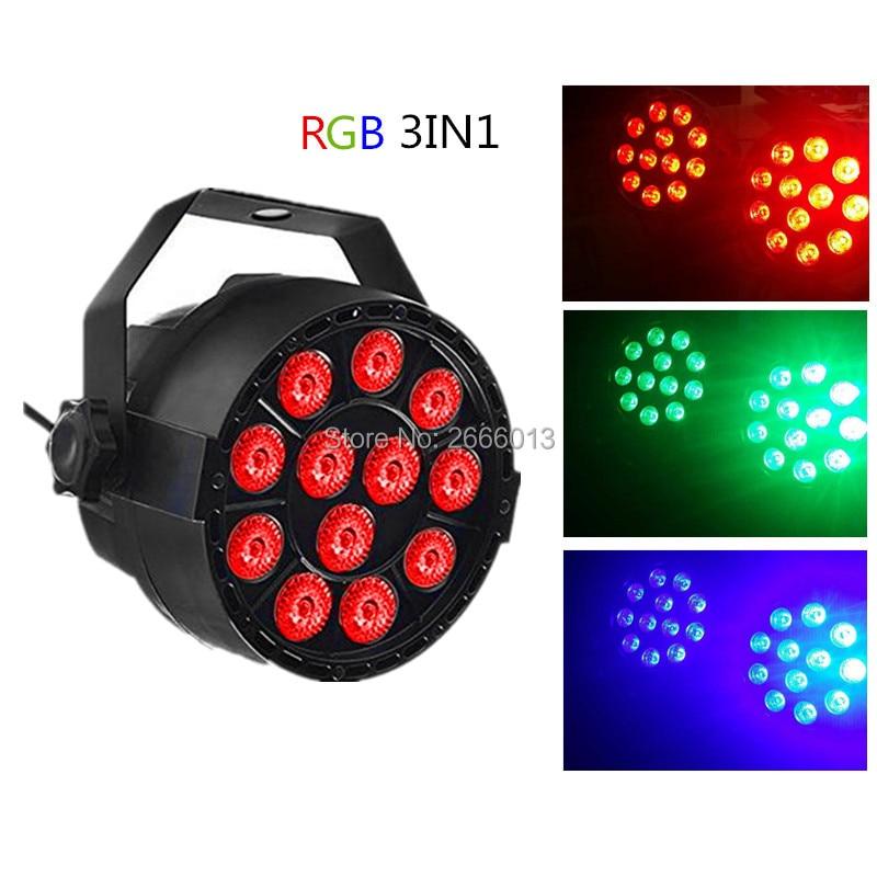 3IN1 RGB 12*3W Led Flat/slim Par Light DMX512 Led wash effect Stage Lights home party Christmas lamp ktv DJ lighting Equipments