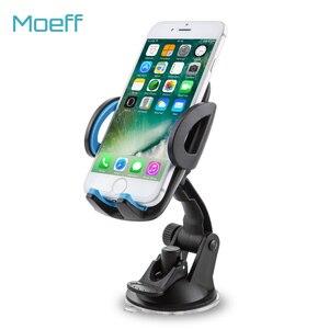 Moeff uniwersalny uchwyt samochodowy na telefon stojak wsparcie mobilna telefon komórkowy komórkowy Sucker dla Iphone 7 8 wsparcie telefon komórkowy do samochodu