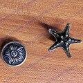 Vintage Bronze Armário de Cozinha Dresser Alças Retro Rodada de Liga de Zinco Gabinete Pull Handle Antique Armário Maçanetas Puxa