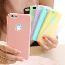 Moda Bonito Doces Colorem TPU Macio casos de telefone de Silicone para o iPhone Da Apple 5 5S 5SE 6 6 S 7 Plus Caso Tampa Traseira Silicone Coque