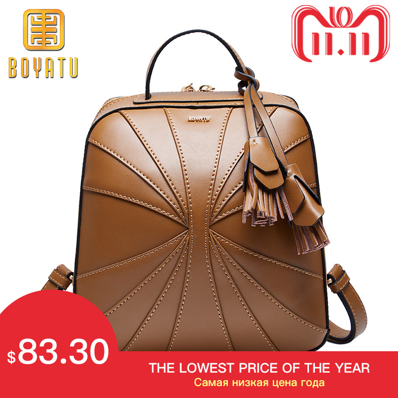Luxury Genuine Women Bagpack Leather Vintage Backpack Evening Bags for Women 2018 Shoulder Bag Mochila Feminina 2017 new fashiom genuine cowhide leather backpack vintage ladies shoulder bag women bags mochila feminina