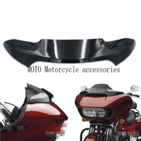 Black Motorcycle Front Windshield For Double Light Shark Heads Front Windshield 4 For Harley Rode Glide
