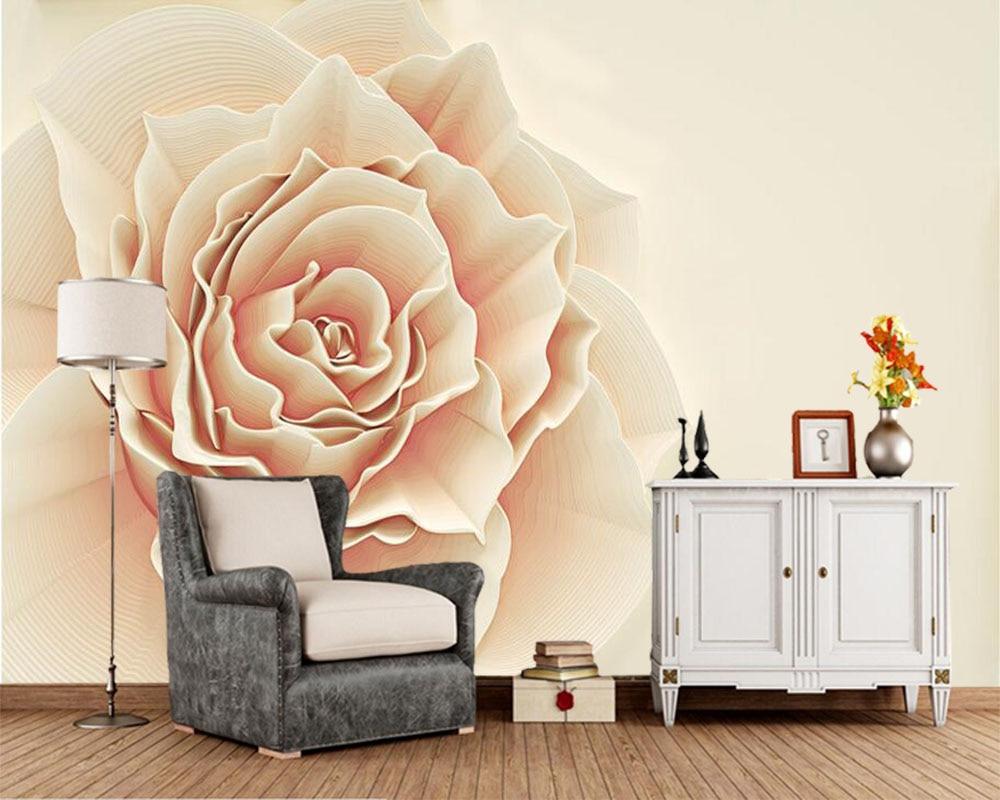 3D rose fleur minimaliste nordique papier peint mural pour salon chambre TV mur restaurant bar personnalisé papier peint DE parede