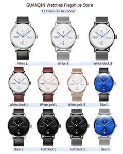 Image 5 - GUANQIN Men watches top brand luxury Watch Casual leather strap sapphire waterproof Analog Automatic Mechanical Wristwatch Mens