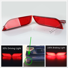 цена на 2Pcs Tail Lights Rear Bumper Lights LED Reflector Brake lights Backup lamps For Subaru /Impreza/XV/WRX/LEVORG/Crossover stop