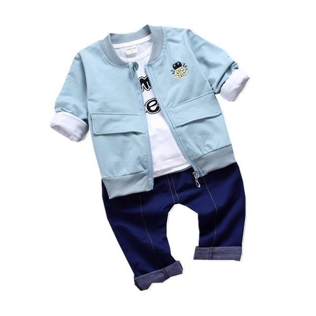 3b87e2314 Autumn Children Boy Girl Clothing Baby Cotton Embroidery Ladybug ...