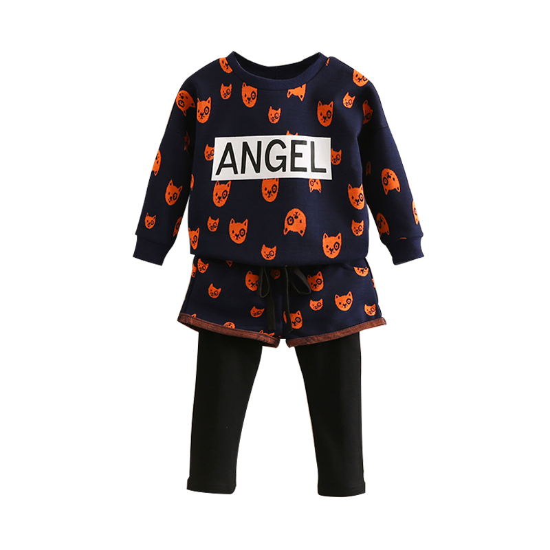 Baby girl clothing sets spring autumn Children Tracksuit long sleeve T-shirts+Pants Girls Sport Suit Children Outerwear free shipping children clothing spring girl three dimensional embroidery 100% cotton suit long sleeve t shirt pants