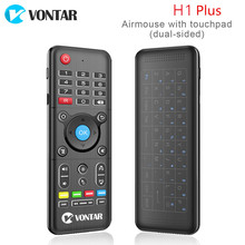 2.4G Wireless Air mouse H1 Plus backlight mini keyboard Remote Control Full Touchpad IR Learning for Android TV Box PC