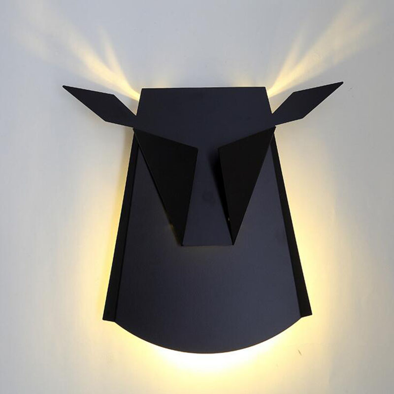 L Nordic cow head wall lamp bedroom bedside modern minimalist antler aisle living room wall LED decorative wall lamp led