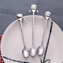 Stirring Spoon Scoops Stainless-Steel Cartoon Flatware Dessert Ice-Cream Gift Long-Handle