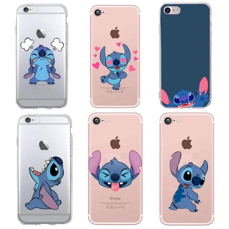 Leuke Stitch Case Voor Capa Iphone 6s 7 8 Plus Se 5 S Fundas Coque Iphone 7 6 5 Originales De Apple Case Cover Siliconen Soft Cover Fitted Cases Aliexpress