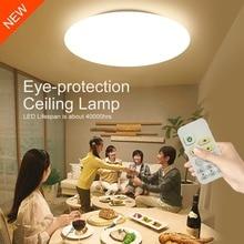 Controle Remoto Inteligente Eye-proteção LED Lâmpada Do Teto moderna 10-nível de Escurecimento Quarto Sala de estar Sala de Jantar Luminárias