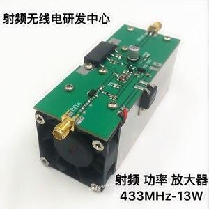 Image 4 - مضخم طاقة راديو عالي الجودة 433 ميجا هيرتز 350 480 ميجا هيرتز 13 وات UHF RF مضخم طاقة AMP DMR مع جهاز تبريد