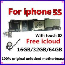 Оригинальная разблокированная материнская плата для iphone 5S без сенсорного ID/с сенсорным ID, для iphone 5S логические платы, 16 ГБ/32 ГБ/64 ГБ