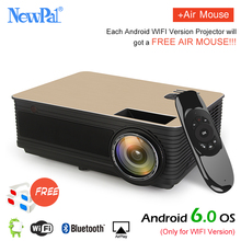 TD86 Projector Newpal 4000Lumens Projector Full HD 1280 800p Home Theater Android6 0 WIFI Optional with