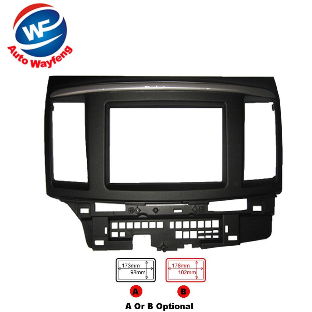 Car refitting DVD frame,DVD panel,Dash Kit,Fascia Radio Frame,Audio frame Fit For 2010 Mitsubishi Galant Fortis,Lancer X 2DIN цена