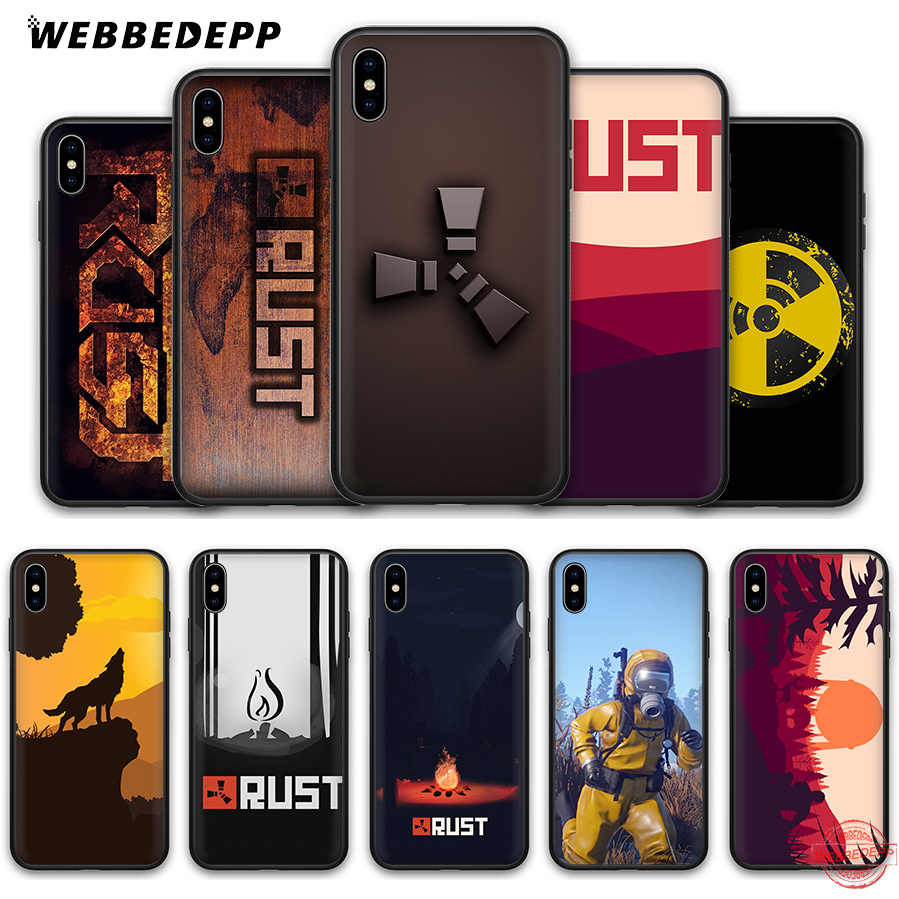 WEBBEDEPP Rust game Soft Silicone Case for iPhone 8 7 6S 6 Plus 11 Pro XS Max XR X 5 5S SE Back Shell