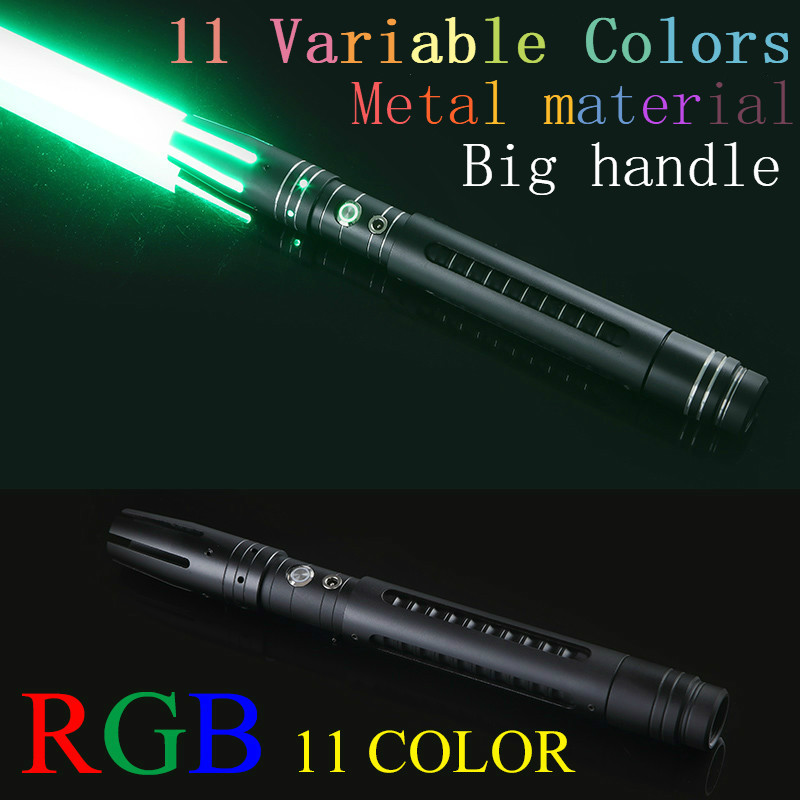100cm 11 Color Lightsaber Metal Sword RGB Laser Cosplay Boy Gril Toy Flashing For Kids Gift Light Outdoor Creative Wars Toys