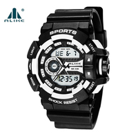Erkekler Saatler 2016 AK14111 ALIKE Erkek Spor İzle 50 m Su Geçirmez Dijital İzle G Tarzı Kuvars Şok Izle Relojes Hombre hodinky