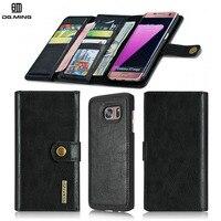 Luxury Detachable Man 3 Fold Wallet For Samsung Galaxy S7 GalaxyS7 Edge SamsungS7 S7 Edge 2