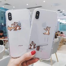 Funda de teléfono interesante transparente con Chip de dibujos animados Dale ardilla para iphone 11 Pro X XS Max Xr 7 8 6 s plus Coque Fundas(China)