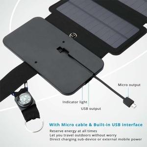 Image 3 - LERRONX المحمولة لوحة طاقة شمسية s شاحن 10 واط 5 فولت 2.1A Sunpower لوحة شمسية قابلة للطي تهمة بطارية للهاتف المحمول التخييم في الهواء الطلق