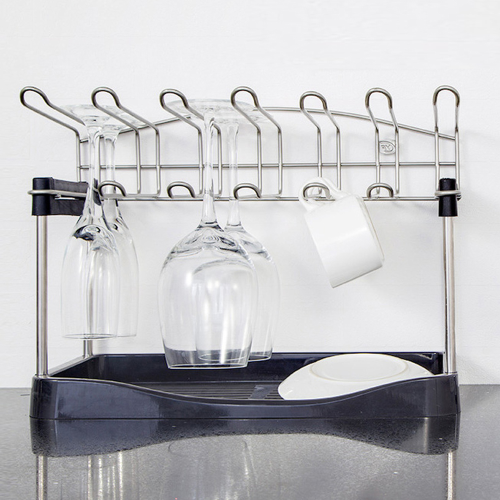 A1 Household hanging kitchen supplies drain rack mug goblet rack storage upside down wine glass rack tray wx8071053