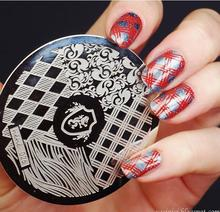 Nail Art Stamping Plate Template Lion Square Pattern Stamp Image hehe026