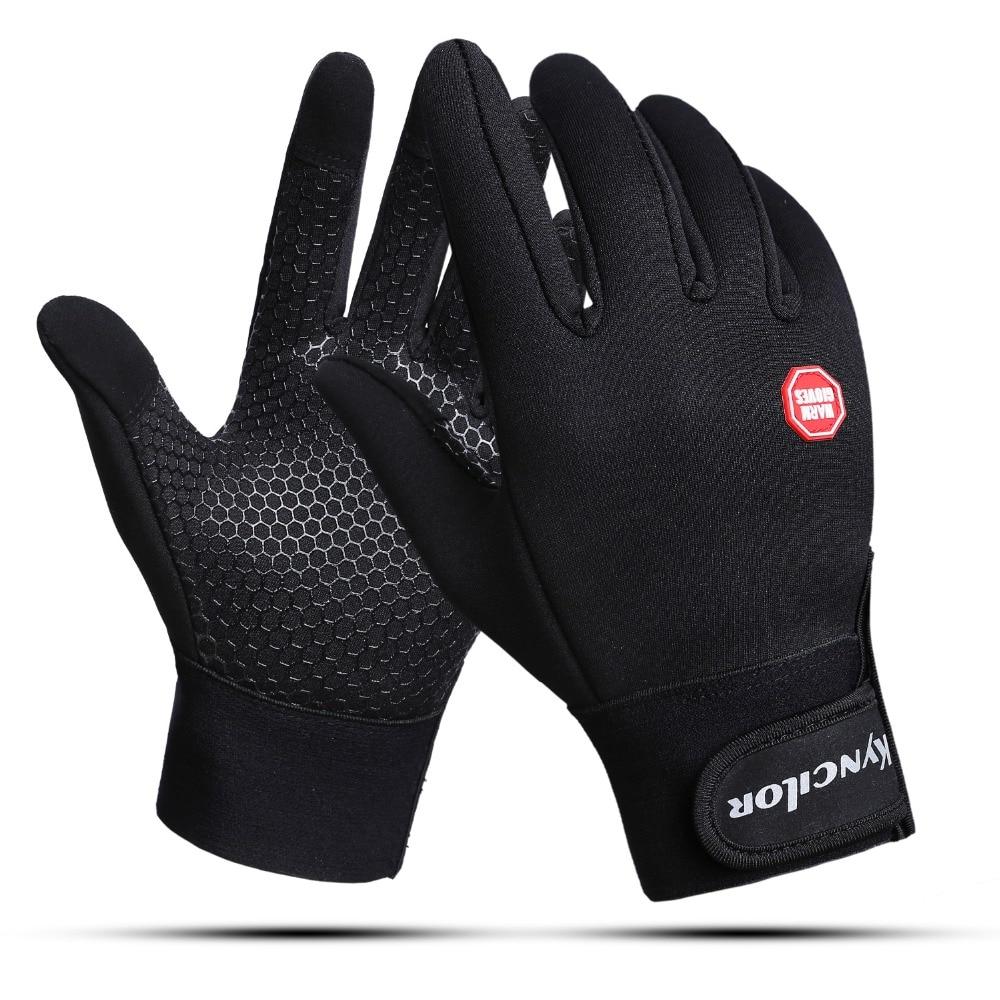 Зимние велосипедные перчатки с поддержкой запястья, велосипедные перчатки для сенсорных экранов, уличные спортивные Нескользящие ветроза...