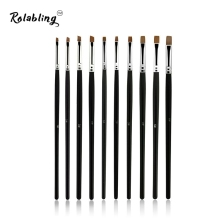 10pcs/SET Nail Art Design Brush Spiral Gel Pen Tips Tool for nail brush nail tool 10 size set nail gel brush