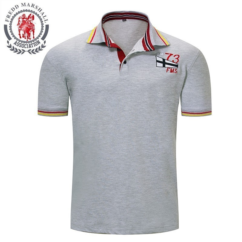 FREDD MARSHALL   Polo   Homme 2019 Summer Men's Regular-Fit Cotton Advantage Performance Solid   Polo   Shirt Camisa   Polo   Tee Shirt 030