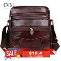 QiBoLu Cow Genuine Leather Messenger Bags Men Travel Business Crossbody Shoulder Bag for Man Sacoche Homme Bolsa Masculina MBA19