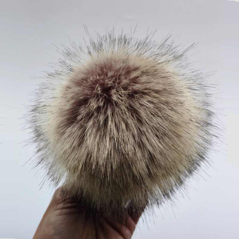 b68e817487264d 12cm Anti compress Artificial Polyester Fur Pom pom For Knitted Beanies  Skullies Faux Fur Ball For