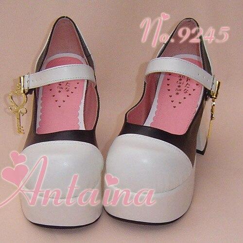 ФОТО Princess sweet lolita Lolilloliyoyo antaina gothic cos shoes custom Tai an na high-heeled key decoration 9245  PU feather