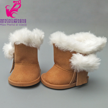 18 inch American Girls Dollswoolen Boots shoes for zapf baby born doll winter mini shoes children small gift