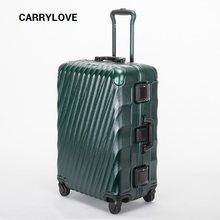 04c158882 CARRYLOVE senior business series equipaje 20/24/28 pulgadas tamaño alta  calidad ABS + PC Rolling equipaje Spinner marca maleta d.