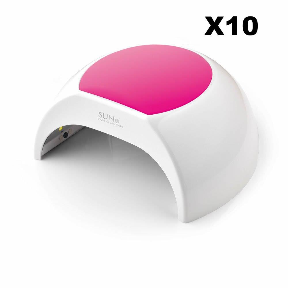 Wholesale 10pcs 48W SUN2C Professional LED UV Nail Lamp Led Nail Light Nail Dryer UV Lamp runail лампа uv led 48w