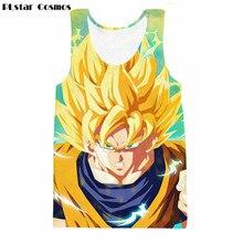 51185e2d71367 PLstar Cosmos Colorful Goku Prints 3D Tank Tops Anime Dragon Ball Z Super  Saiyan vest Men