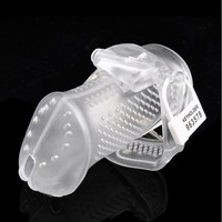 Breathable Male Chastity Device Bird Lock Chastity Belt Resin Chastity Cage Cock Lock A374