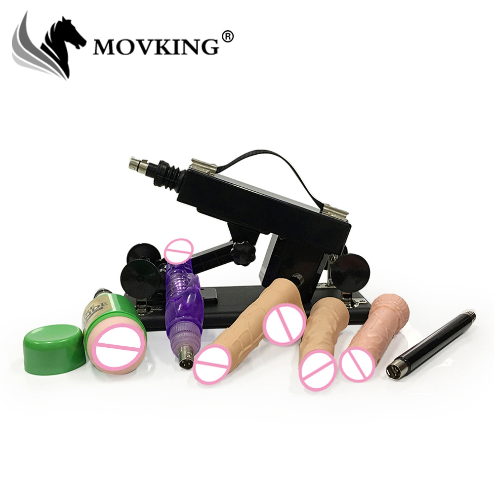 MOVKING Automatic Upgrade Sex Machine with Vibrating Rabbit and Male Masturbator Cup Dildos Love Gun for Women and Men fashion rabbit and grass pattern 10cm width wacky tie for men