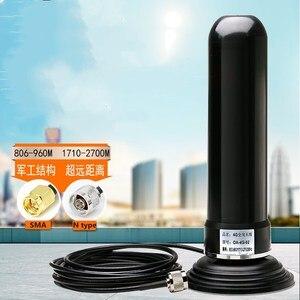 Image 1 - GSM 3G 2.4G 4G SMA/N type antenne mâle en fiber de verre Base magnétique à gain élevé véhicule voiture ventouse antenne 900 1800 M 35dbi
