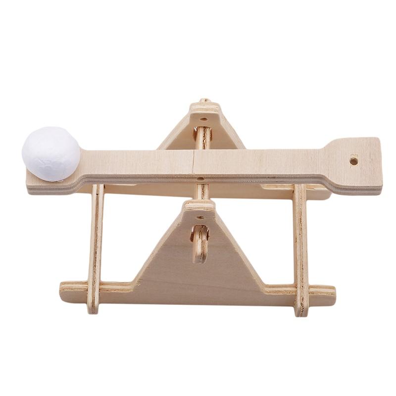 HN Children Scientific Experiment DIY Trebuchet Toy Model Wooden Catapult Kits