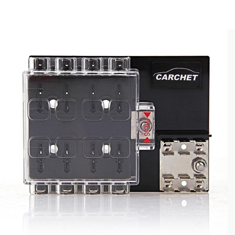 carchet car fuses 8 way block holder circuit fuse box with. Black Bedroom Furniture Sets. Home Design Ideas