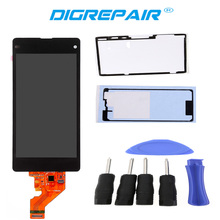 New Black LCD Assembly Replacement For Sony Xperia Z1 Mini Compact D5503 Touch Digitizer LCD Screen Display+Tools+Adhesive