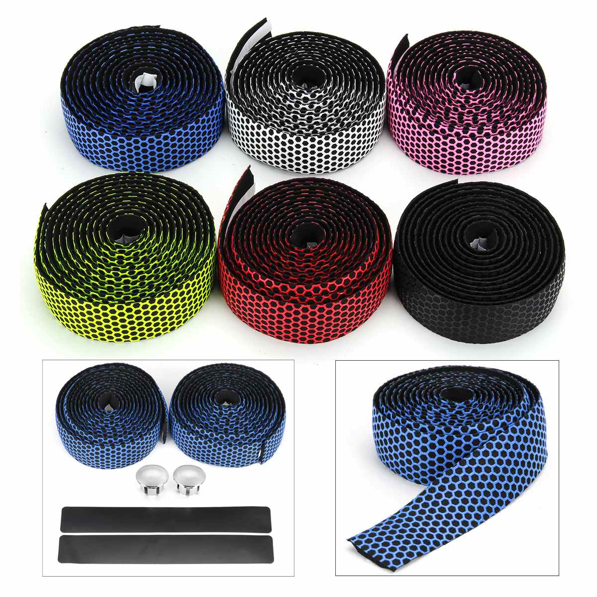 4pcs Bike Handlebar Tapes Anti-Slip EVA MTB Road Bicycle Bar Wrap Band Belt 2