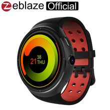 Zeblaze thor 1.4 pulgadas super amoled 400*400 gorilla de corning glass3 más grande 1 gb + 16 gb gps smartwatch teléfono